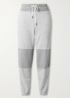 James Perse Paneled Melange Cotton-jersey Track Pants