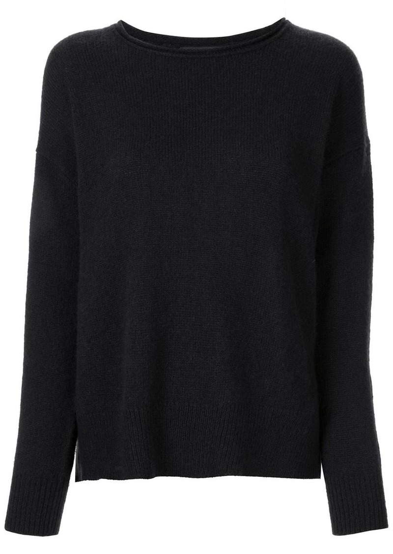 James Perse panelled cashmere jumper