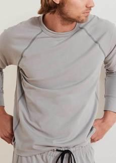 James Perse Performance Jersey Raglan Sweatshirt - Shark