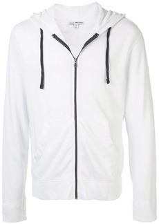 James Perse plain zipped hoodie