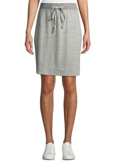 James Perse Pull-On Straight Fleece Skirt