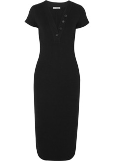 James Perse Ribbed Cotton-blend Jersey Dress