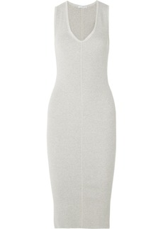 James Perse Ribbed Cotton-blend Jersey Midi Dress
