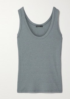 James Perse Ribbed Cotton-blend Jersey Tank