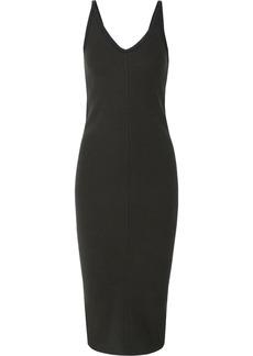 James Perse Ribbed Stretch Cotton-blend Midi Dress