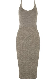 James Perse Ribbed Stretch-cotton Midi Dress