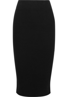 James Perse Ribbed Stretch-cotton Midi Skirt