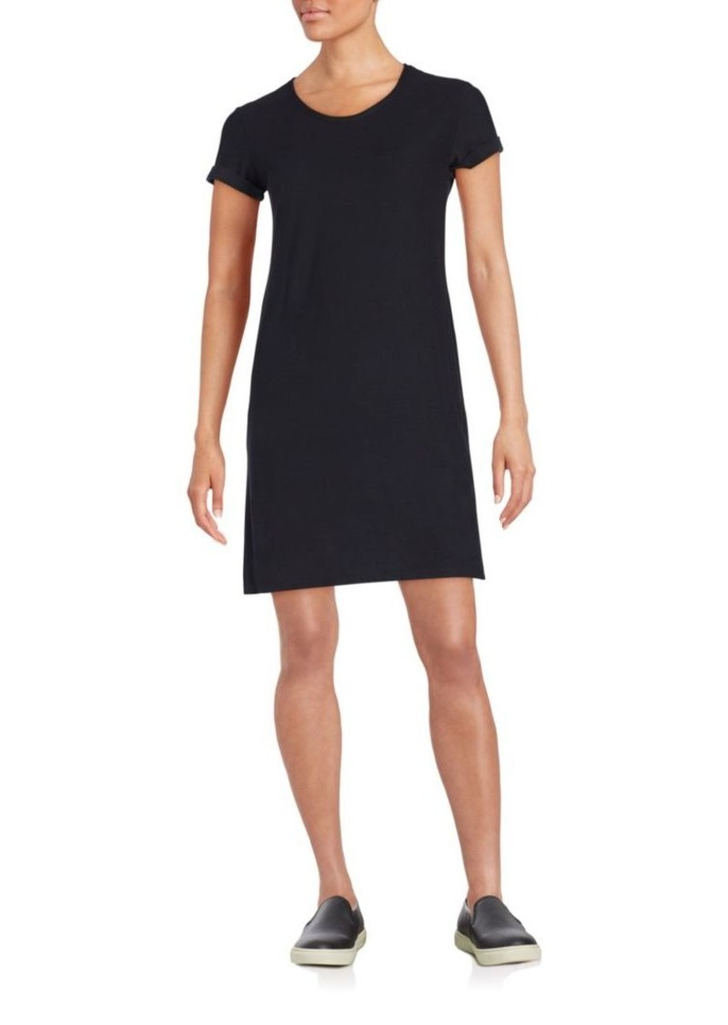James Perse Roll-Sleeve T-Shirt Dress