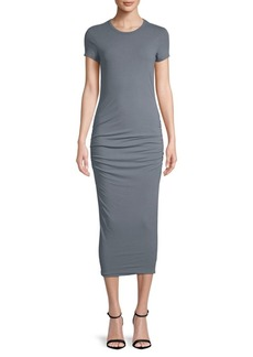 James Perse Ruched Midi Dress