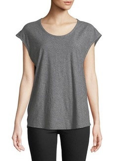 James Perse Scoop-Neck Jersey Muscle Tee