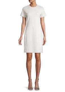 James Perse Short-Sleeve Cotton-Blend Sweatshirt Dress