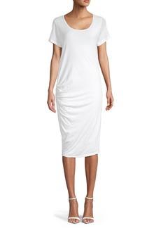 James Perse Short-Sleeve Cotton-Blend T-Shirt Dress