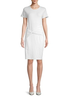 James Perse Short-Sleeve Twist-Front Dress