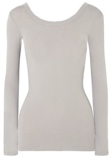 James Perse Skinny Ballet Stretch-cotton Jersey Top