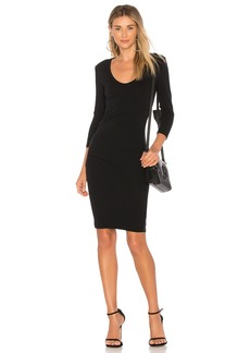 James Perse Skinny Tucked Dress