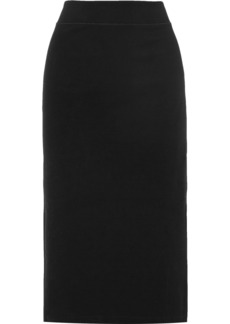 James Perse Stretch Cotton-blend Jersey Midi Skirt