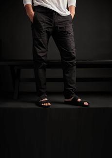 James Perse Stretch Poplin Zip Pocket Pant - Black