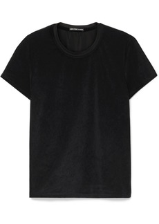 James Perse Stretch-velvet T-shirt