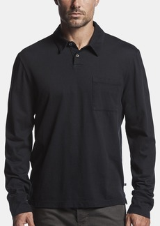 James Perse Sueded Jersey Rugby Polo - Deep