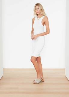 James Perse Technical Jersey Ribbed Tank Dress - White