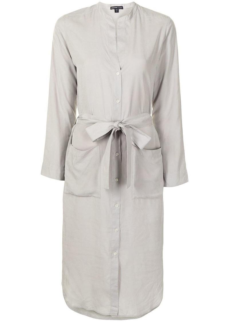James Perse tied-waist shirt-dress
