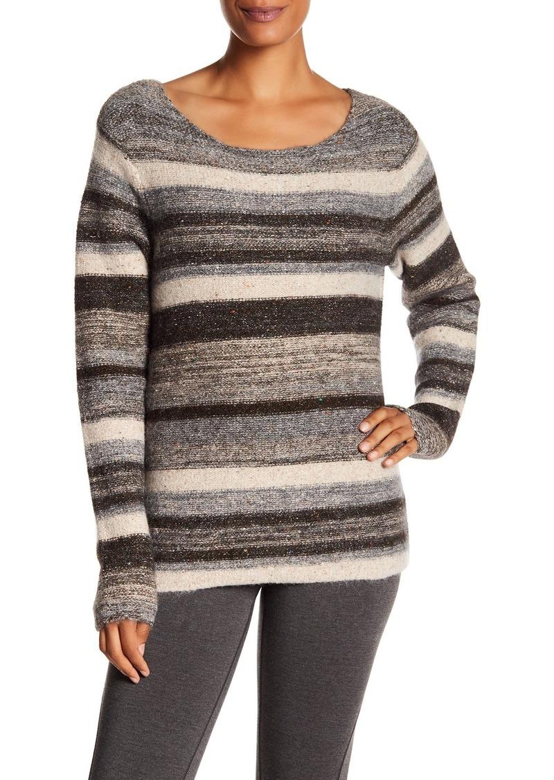 James Perse Tweed Wool Blend Crew Neck Sweater
