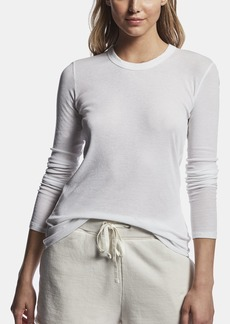 James Perse Wide Binding Ribbed Tee - White