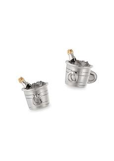 Jan Leslie Champagne Bucket Sterling Silver Cufflinks
