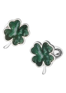 Jan Leslie Four Leaf Clover Cuff Links
