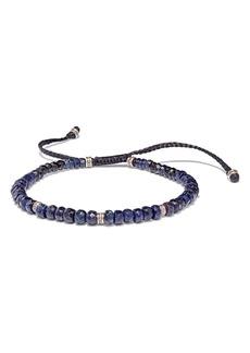 Jan Leslie Sapphire and Sterling Silver Bead Bracelet