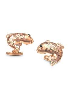 Jan Leslie Sterling Silver & Mother-of-Pearl Koi Fish Cufflinks