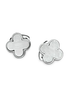 Jan Leslie Sterling Silver and Mother-of-Pearl Clover Cufflinks