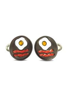 Jan Leslie Sterling Silver Bacon & Egg Cufflinks