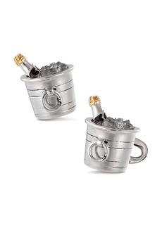 Jan Leslie Sterling Silver Champagne Bucket Cufflinks