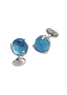 Jan Leslie One-Of-A-Kind Sterling Silver & London Blue Topaz Cufflinks