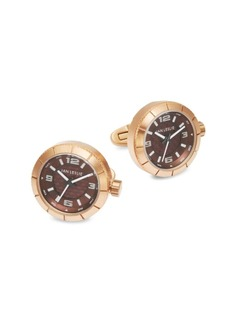 Jan Leslie Stainless Steel Watch Cuff Links