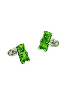 Jan Leslie Stering Silver Gummy Bear Cufflinks