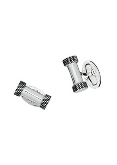 Jan Leslie Sterling Silver Etched Bar Cufflinks