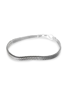 Jan Leslie Sterling Silver Fox Tail Chain Bracelet
