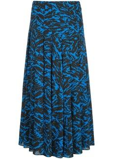 Jason Wu abstract print midi skirt