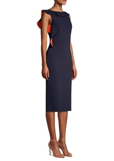 Jason Wu Asymmetric Ruffled Sheath Dress