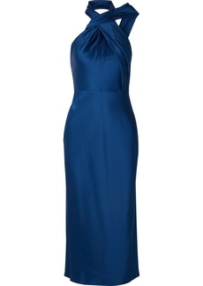 Jason Wu Asymmetric Satin-crepe Halterneck Midi Dress