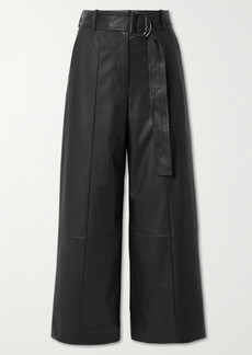 Jason Wu Belted Faux Leather Wide-leg Pants