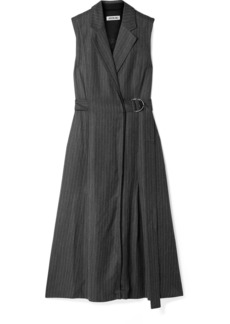 Jason Wu Belted Pinstriped Twill Dress