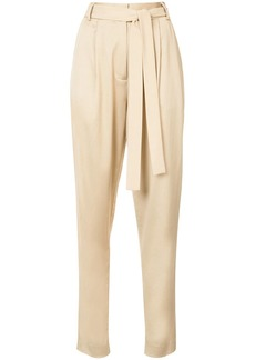 Jason Wu belted slim-fit tailored trousers