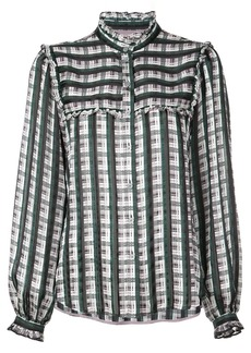 Jason Wu check print ruffled shirt