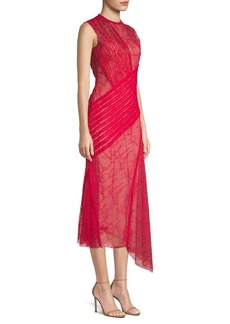 Jason Wu Collaged Lace Cocktail Dress