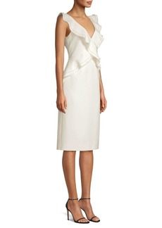 Jason Wu Compact Crepe Ruffle Dress