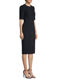 Jason Wu Compact Crepe Short Sleeve Day Dress
