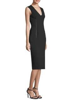 Jason Wu Compact Crepe V-Neck Dress
